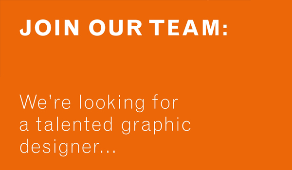 JOIN OUR TEAM – DESIGNERS NEEDED